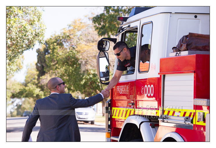 firemen and the groom perth weddings