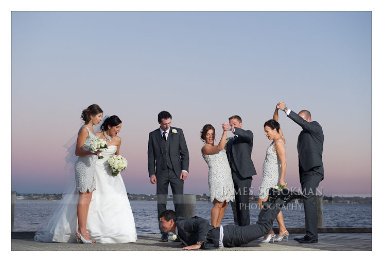 fun natural bridal party wedding photography perth