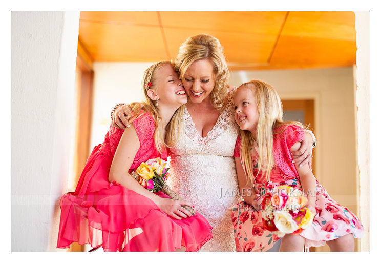 beautiful perth bride and kids