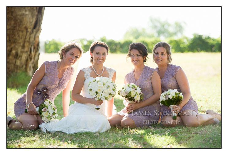 perth bridal party girls sandalford wedding james schokman