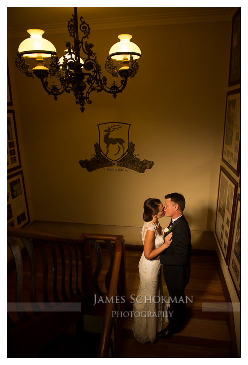 stairs at sandalford wedding photograph perth james schokman