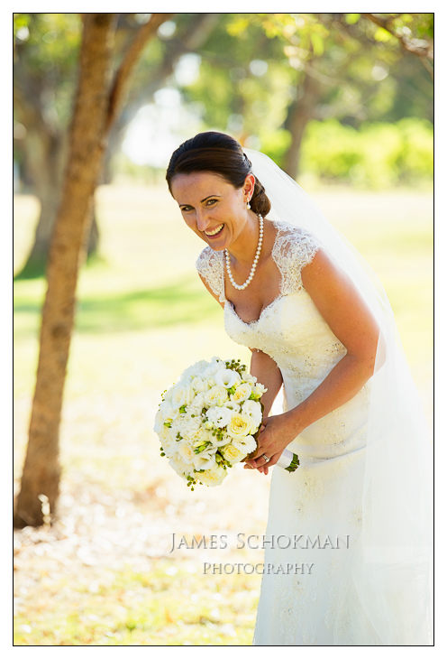 happy natural bride at sandalford winery wedding by james schokman