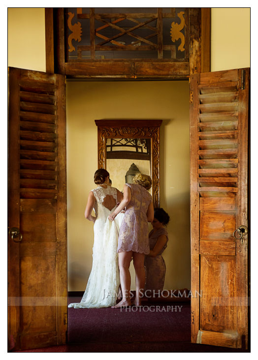 bridal party candid at sandalford