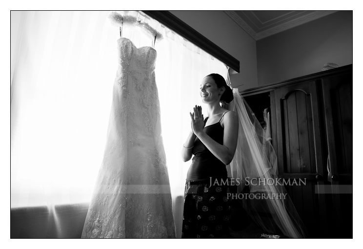 photography of the bride and wedding dress in perth