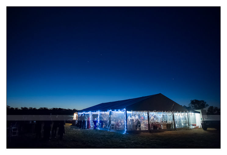 the marque at night with the lovely skies