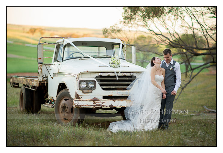 perth country wedding and a truck