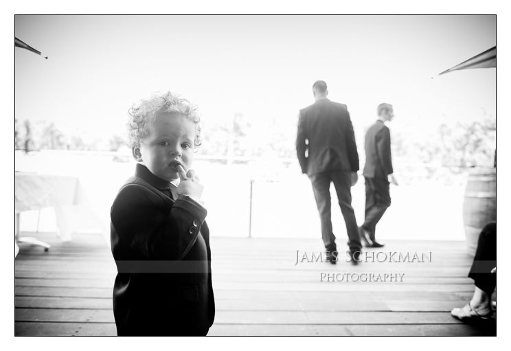 young boy at perth wedding millbrook