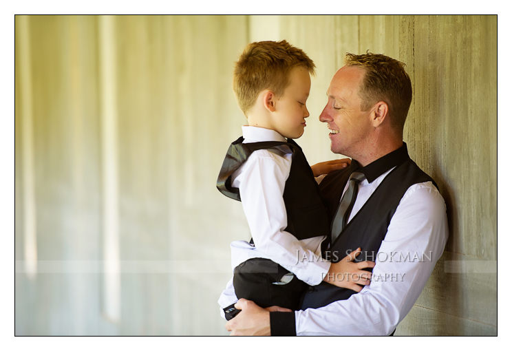 father son portrait at millbrook winery wedding perth