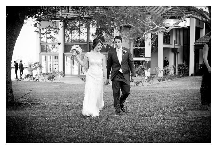 wedding couple entrace matilda bay